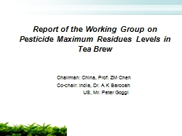 Report of the Working Group on