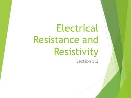 Electrical Resistance and Resistivity PowerPoint PPT Presentation
