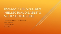 Traumatic Brain Injury PowerPoint PPT Presentation