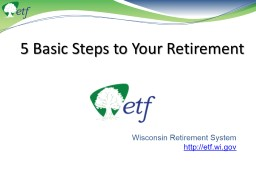 5 Basic Steps to Your Retirement
