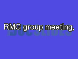 RMG group meeting,