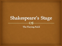 Shakespeare's Stage