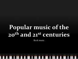 Popular music of the 20