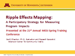Ripple Effects Mapping: PowerPoint PPT Presentation