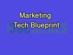 Marketing Tech Blueprint