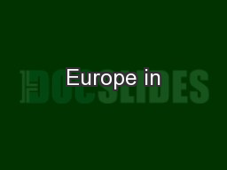 Europe in