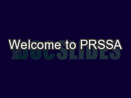 Welcome to PRSSA