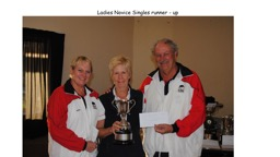 Ladies Novice Singles runner - up