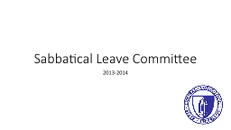 Sabbatical Leave Committee PowerPoint PPT Presentation