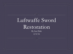 Luftwaffe Sword PowerPoint PPT Presentation