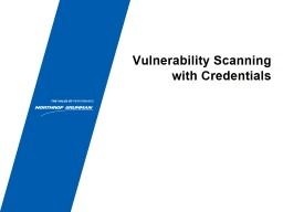 Vulnerability Scanning with Credentials
