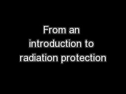 From an introduction to radiation protection