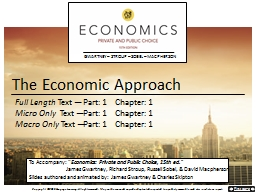 The Economic Approach