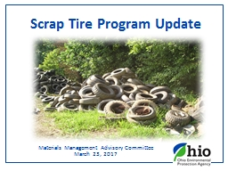 Scrap Tire Program Update