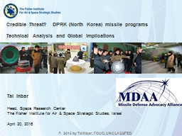 Credible Threat?  DPRK (North Korea) missile programs PowerPoint PPT Presentation