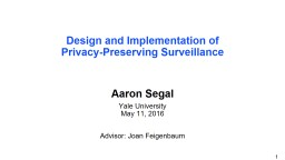 Design and Implementation of Privacy‑Preserving