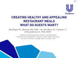 Creating healthy and appealing restaurant meals PowerPoint Presentation, PPT - DocSlides
