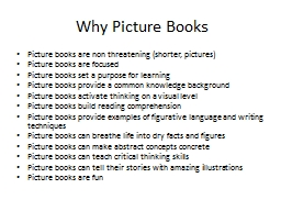 Why Picture Books