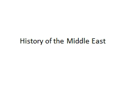 History of the Middle East PowerPoint PPT Presentation