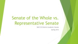 Senate of the Whole vs. Representative Senate