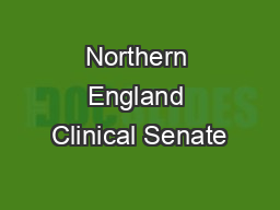 Northern England Clinical Senate