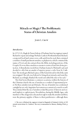 Miracle or Magic e Problematic Status of Christian Am