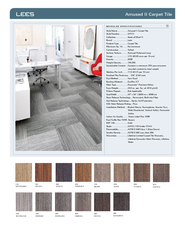 Amused II Carpet Tile MODULAR SPECIFICATIONS Style Nam