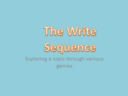 Exploring a topic through various genres