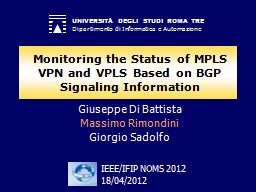 Monitoring the Status of MPLS VPN and VPLS Based on BGP Sig