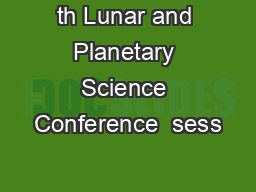 th Lunar and Planetary Science Conference  sess