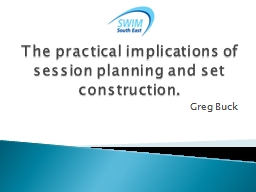 The practical implications of session planning and set cons