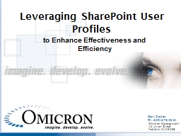 Leveraging SharePoint User