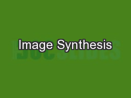 Image Synthesis