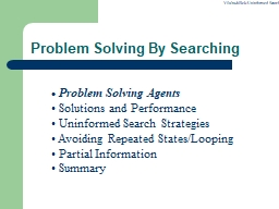 Problem Solving By Searching PowerPoint PPT Presentation