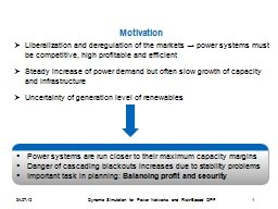 Liberalization and deregulation of the markets PowerPoint PPT Presentation