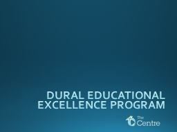 DURAL EDUCATIONAL EXCELLENCE PROGRAM