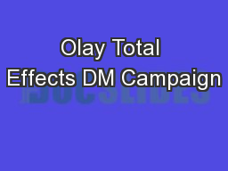 Olay Total Effects DM Campaign