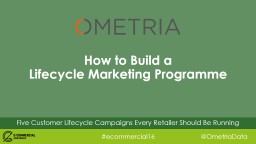 Five Customer Lifecycle Campaigns Every Retailer Should Be