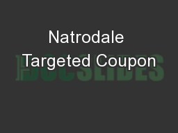 Natrodale Targeted Coupon