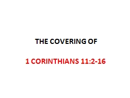 THE COVERING OF