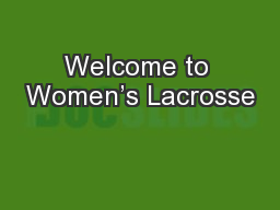 Welcome to Women's Lacrosse