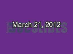 March 21, 2012