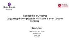 Making Sense of Outcomes PowerPoint PPT Presentation