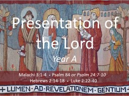 Presentation of the Lord