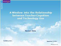 A Window into the Relationship between Teacher Cognition