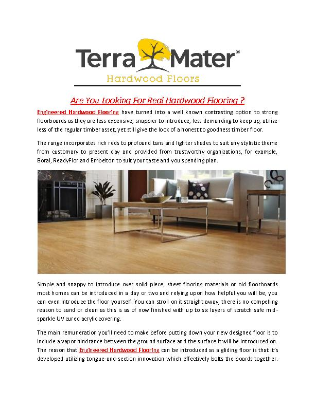 Are You Looking For Real Hardwood Flooring?