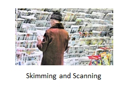 skimming and scanning exercises with answers pdf