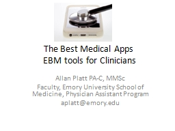 The Best Medical Apps PowerPoint PPT Presentation