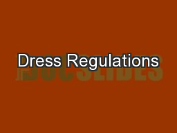 Dress Regulations