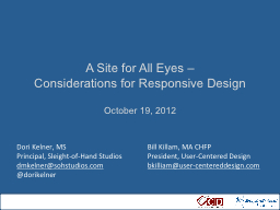 A Site for All Eyes –